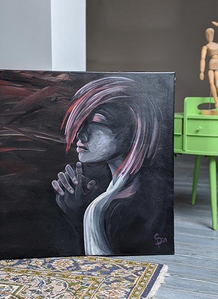 Acryl Gemälde verkauft, Prayer