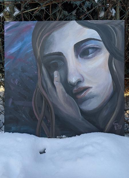 Beautiful Sadness . someone is there, Acryllart, 60x60cm